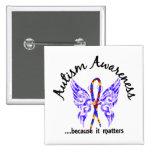 Autismo de la mariposa 6,1 del tatuaje del Grunge Pins