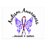 Autismo de la mariposa 6,1 del tatuaje del Grunge Tarjetas Postales