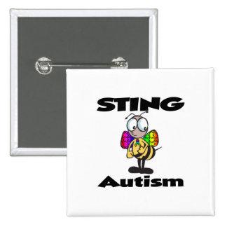 Autismo de STING Pin Cuadrado