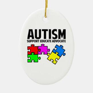Autismo Adorno Ovalado De Cerámica