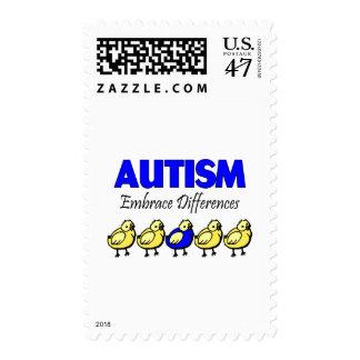 Autismo del abrazo (patos) sellos