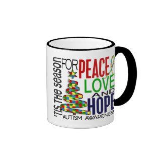 Autismo del día de fiesta del navidad de la espera taza de café