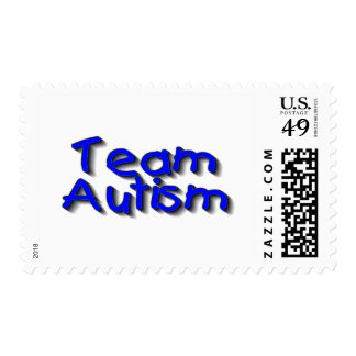 Autismo del equipo (azul) franqueo