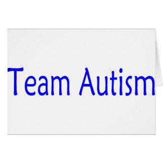 Autismo del equipo (azul) felicitacion