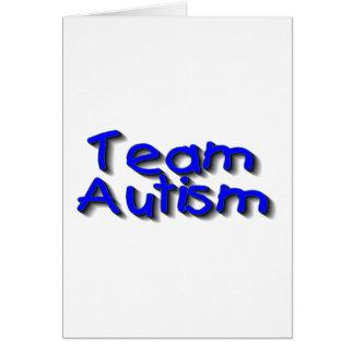 Autismo del equipo (azul) tarjetón