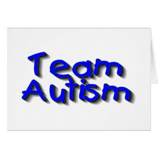 Autismo del equipo (azul) tarjeton