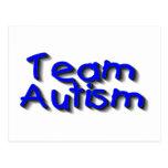 Autismo del equipo (azul) tarjeta postal