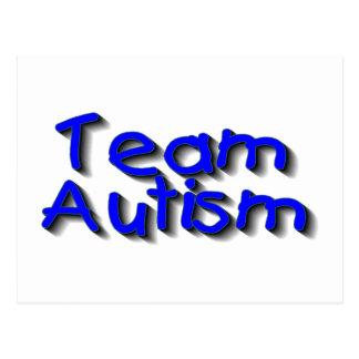 Autismo del equipo (azul) postal