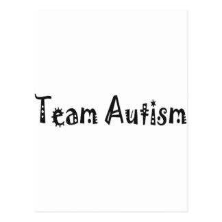 Autismo del equipo (negro) postal