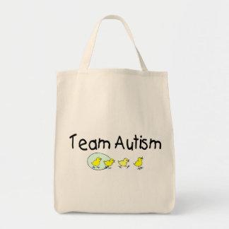 Autismo del equipo (polluelos) bolsa tela para la compra