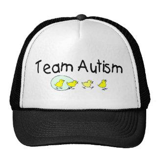 Autismo del equipo (polluelos) gorras