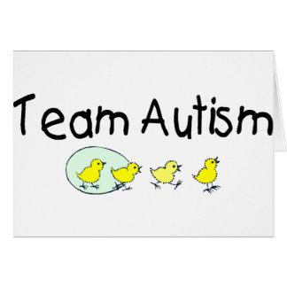 Autismo del equipo (polluelos) tarjeta de felicitación