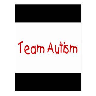 Autismo del equipo (rojo) - modificado para postal