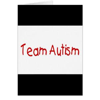 Autismo del equipo (rojo) - modificado para requis tarjetas