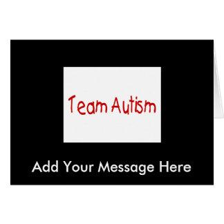 Autismo del equipo (rojo) - modificado para requis tarjeta de felicitación
