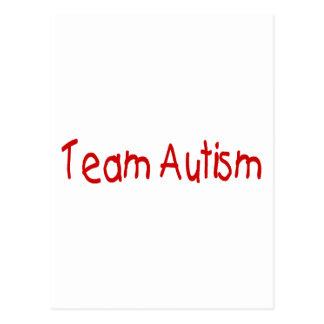 Autismo del equipo (rojo) postal