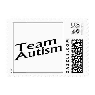 Autismo del equipo sello
