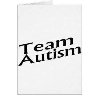 Autismo del equipo tarjeton