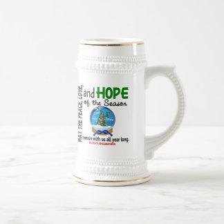 Autismo del globo 1 de la nieve del día de fiesta  tazas de café