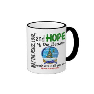 Autismo del globo 1 de la nieve del día de fiesta  taza de café