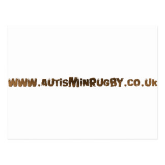 Autismo en productos del rugbi postales