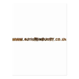Autismo en productos del rugbi tarjeta postal