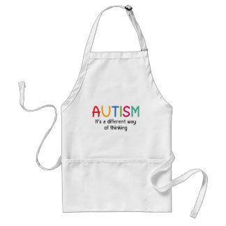 Autismo es una manera diferente de pensamiento delantal