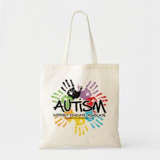 Autismo Handprint Bolsa Tela Barata