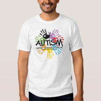 Autismo Handprint Camisas