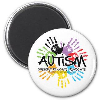 Autismo Handprint Imán Redondo 5 Cm