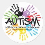 Autismo Handprint Pegatinas