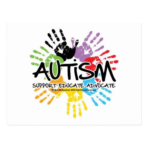 Autismo Handprint Postales