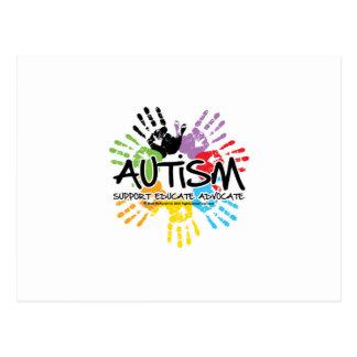 Autismo Handprint Postal