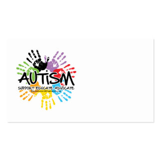 Autismo Handprint Tarjetas De Visita