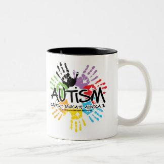 Autismo Handprint Taza De Café De Dos Colores