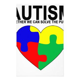 Autismo - juntos podemos solucionar la camiseta papelería de diseño