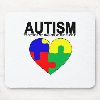 Autismo - juntos podemos solucionar la camiseta tapete de raton