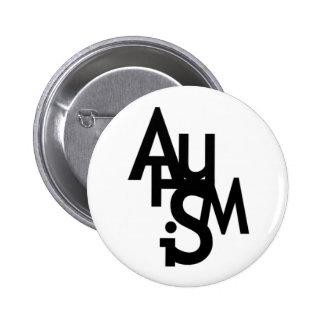 Autismo (letras embarulladas) pins