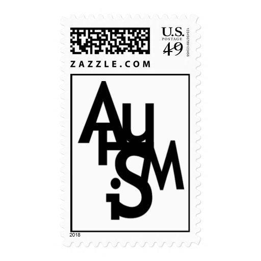 Autismo (letras embarulladas) sellos