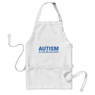 Autismo no es como usted piensa delantal