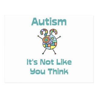 Autismo: No es como usted piensa Postal