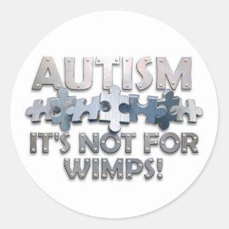 Autismo: No para los Wimps Etiquetas Redondas