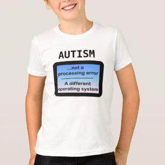 Autismo-No un error de proceso Playera