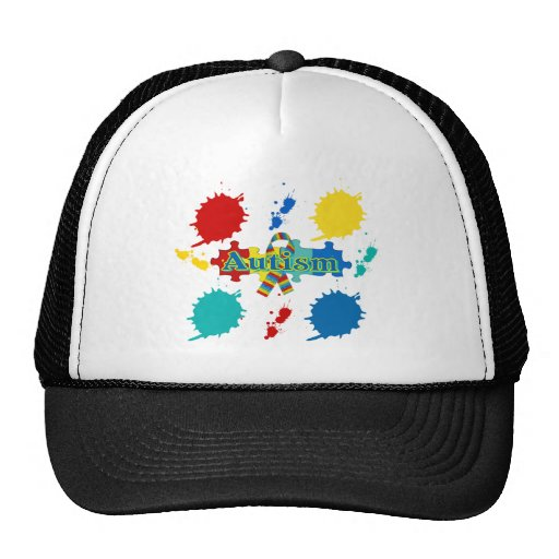 Autismo pintado gorras de camionero