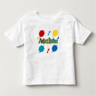 Autismo pintado camisetas
