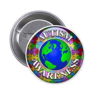Autismo por todo el mundo pin redondo 5 cm