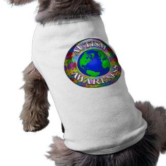 Autismo por todo el mundo playera sin mangas para perro