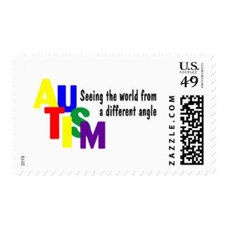 Autismo que ve el mundo de un diverso ángulo (Co Sello Postal