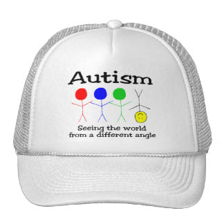 Autismo que ve el mundo de un diverso ángulo gorras de camionero