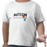 Autismo que ve el mundo de un diverso ángulo (pi camiseta